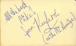 Keith Hampshire's autograph