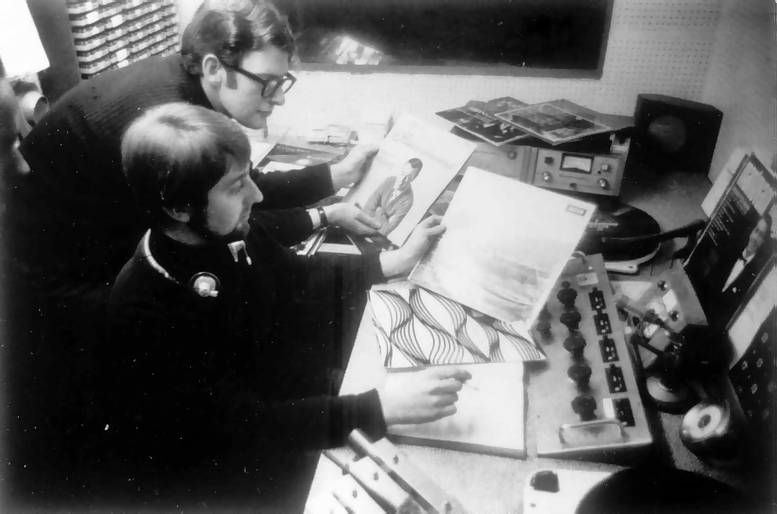 Stephen West and David Allan in the Radio 390 studio