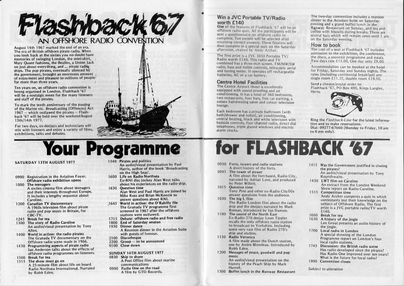 Flashback '67 programme of events