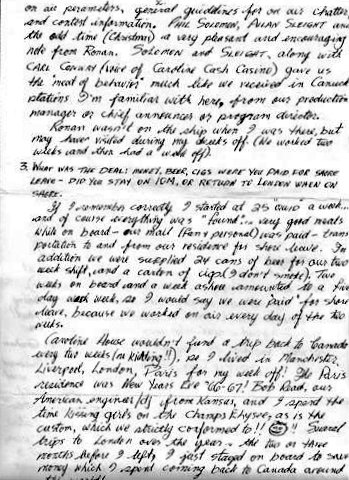 a page of Gord's letter