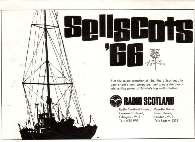press advert for Radio Scotland