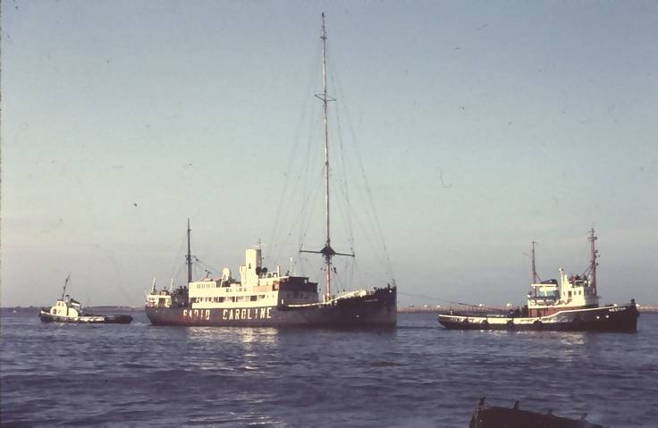 The mv Fredericia under tow