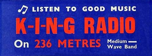 King Radio car sticker