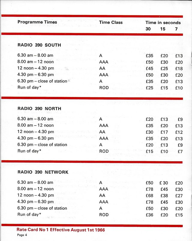 Radio 390 rate card