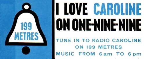 Radio Caroline car sticker