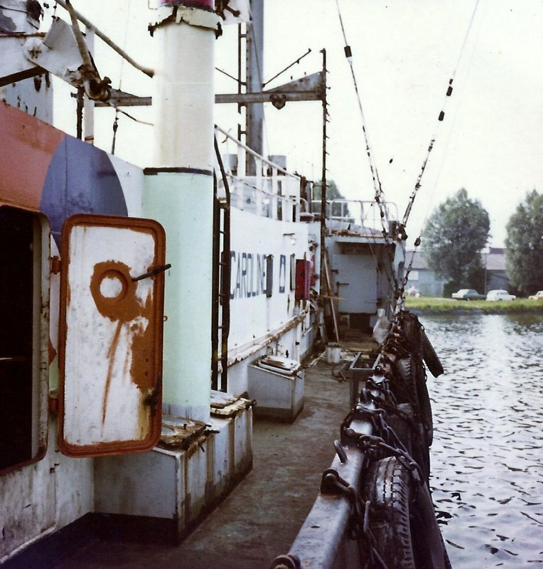deck of mv Mi Amigo