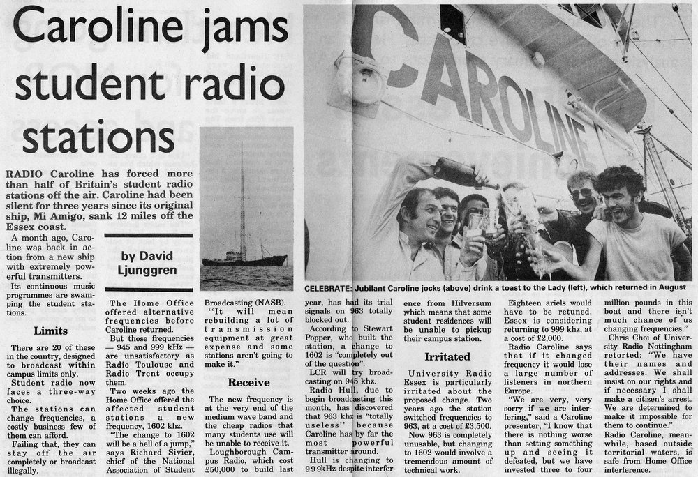 cutting from Radio News