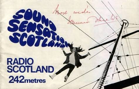 Radio Scotland booklet, front cover