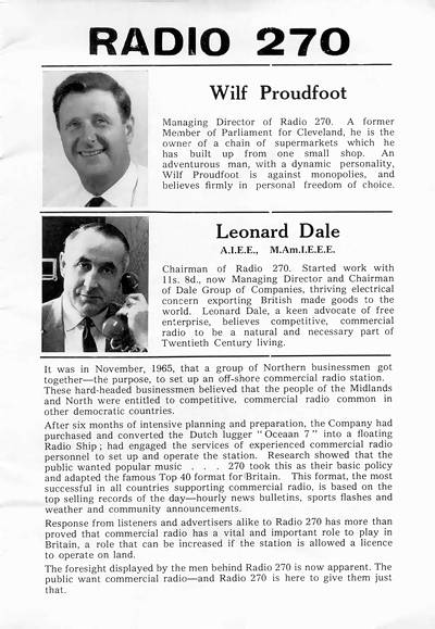 Radio 270 booklet, page 3