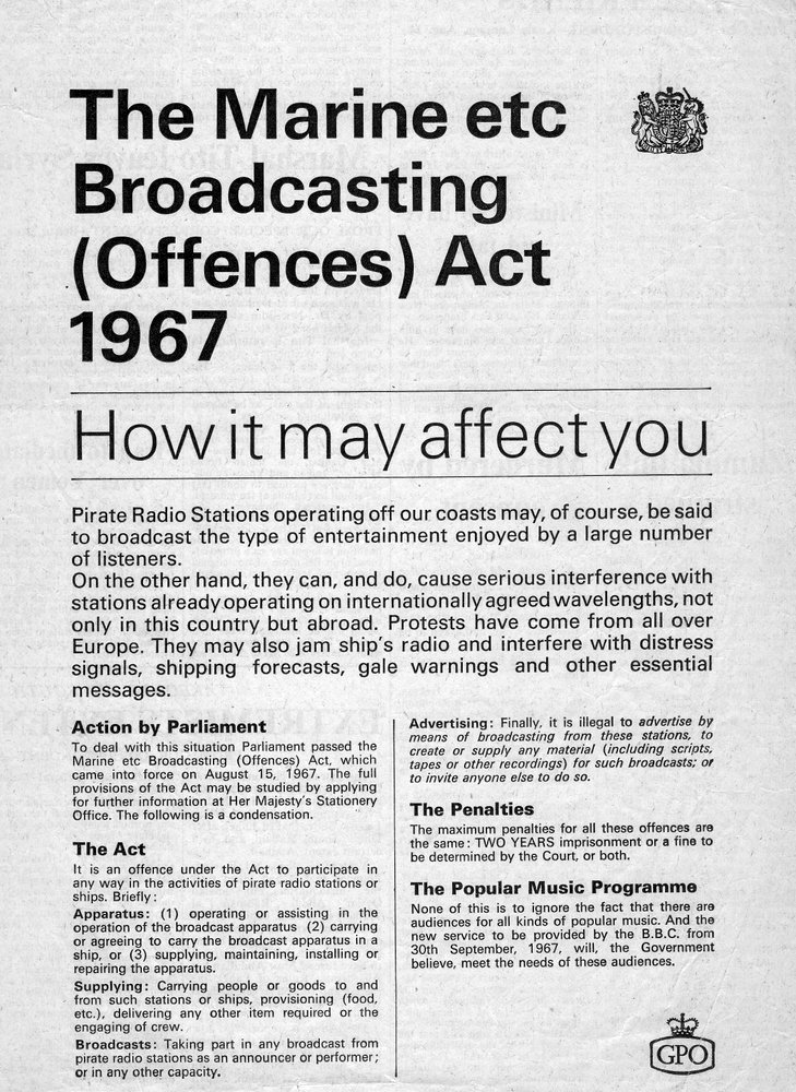 Marine Offences Act press advert