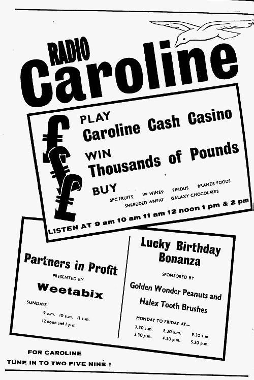 Radio Caroline press advert