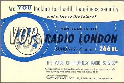 advert for The Voice Of Prophecy